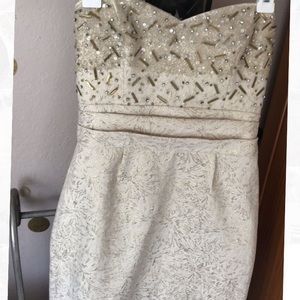 NWT Badgley Mischka strapless dress